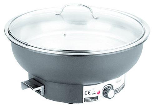 "APS-Germany Chafing Dish ""Eco""   Elektrisch   RVS PP Glas   Ø36 cm x H 25 cm   6.80 liter"