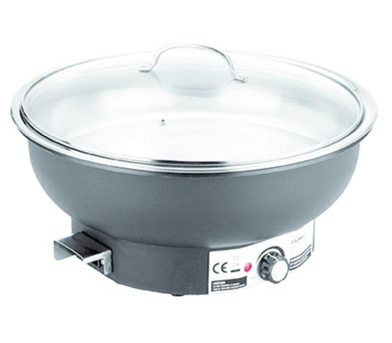 "Chafing Dish ""Eco"" | Elektrisch | RVS PP Glas | Ø36 cm x H 25 cm | 6.80 liter"