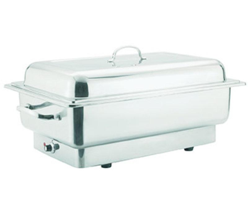 """Chafing Dish """"Inoxstar""""   Elektrisch   1/1GN   RVS   62 cm x 35 cm x H 29 cm 13.50 liter"""