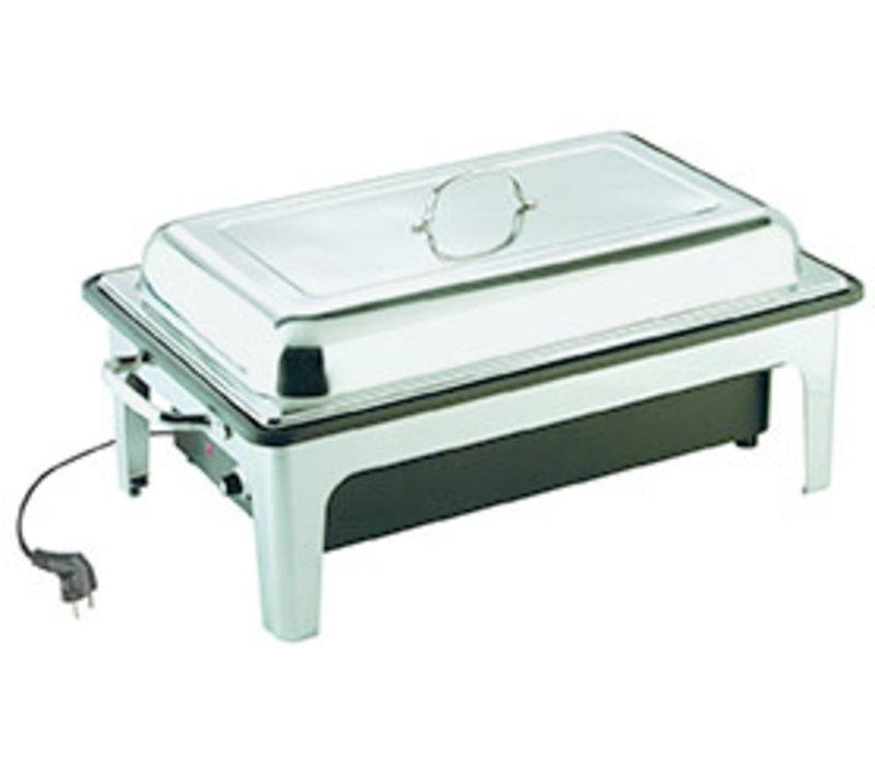 Chafing Dish | Elektrisch | 1/1 GN | RVS | 63 cm x 36 cm x H 29 cm | 14 liter