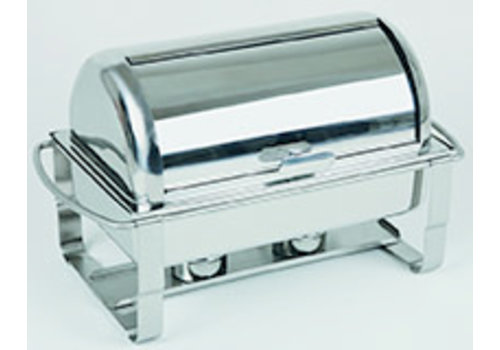 """APS-Germany Chafing Dish """"Caterer""""   1/1GN   RVS   67 cm x 35 cm x 35 cm   Rolltop   9 liter  """