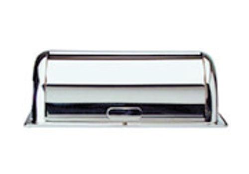 "APS-Germany Rolltop deksel ""Swiss"" | RVS | 55 cm x 34 cm x H 19.5 cm | Hoogglans gepolijst"