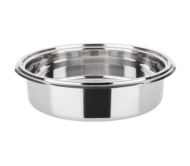 Foodpan voor Chafing Dish 12330/12335/12336/12337 | RVS | Ø 30.5 cm x H 8 cm | 4 liter
