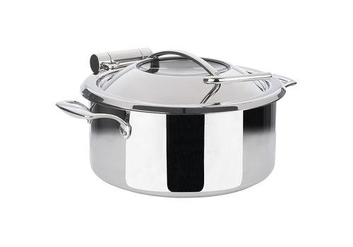 APS-Germany Chafing Dish Inductie set   Pan Bewaarpan Deksel Inductieproof Pan   Ø 30.5 cm x H 17.5 cm   4 liter   4-delig   Grijs