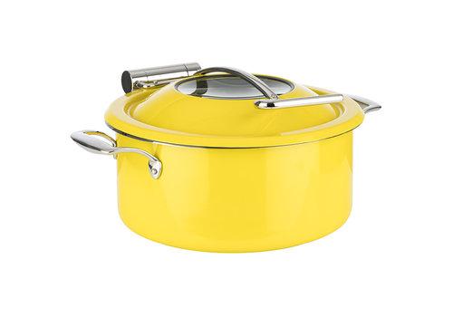 APS-Germany Chafing Dish Inductie set   Pan Bewaarpan Deksel Inductieproof Pan   Ø 30.5 cm x H 17.5 cm   4 liter   4-delig   Geel