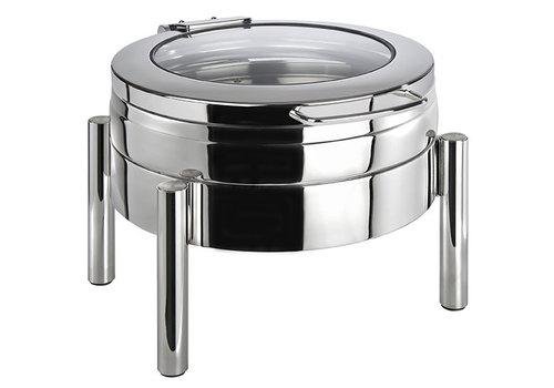 "APS-Germany Chafing Dish ""Premium""   RVS   44 cm x 54 cm x H 33 cm   6 liter   Met glasdeksel"