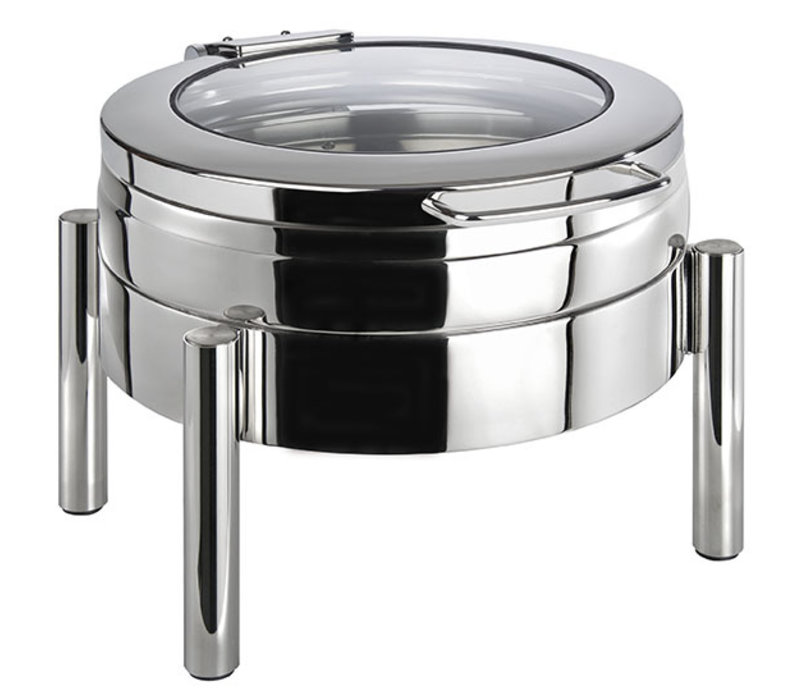 "Chafing Dish ""Premium"" | RVS | 44 cm x 54 cm x H 33 cm | 6 liter | Met glasdeksel"