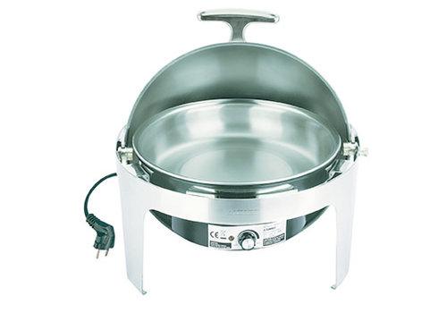 "APS-Germany Chafing Dish ""Elite""   RVS   Rolltop   Electrisch   Ø 45 cm x H 43.5 cm   6.8 liter"