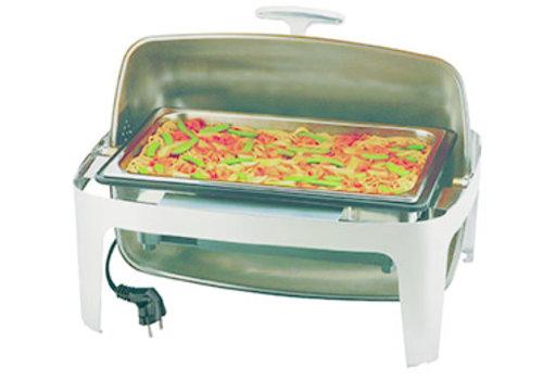 "APS-Germany Chafing Dish ""Elite""   RVS   Rolltop   Electrisch   1/1GN   67 cm x 53 cm x H 43.5 cm   8.50 liter"