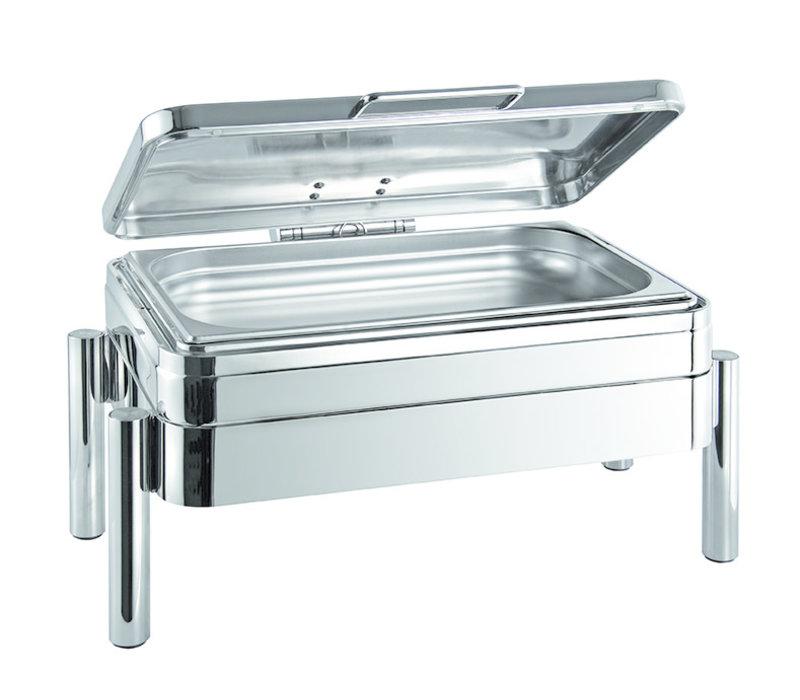 "Chafing Dish GN 1/1 ""Premium"" | GN 1/1 | RVS | 66 cm x 48 cm x H 33 cm | RVS deksel | 9 liter"