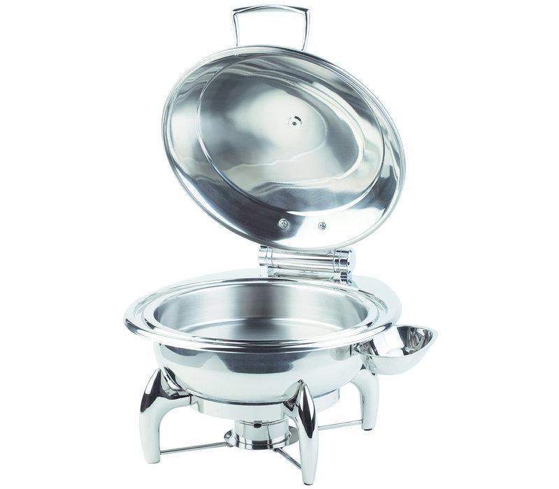 """Chafing Dish """"Globe""""   RVS   Ø 35 cm x H 34 cm   Afneembaar hydraulisch RVS deksel   6 liter"""