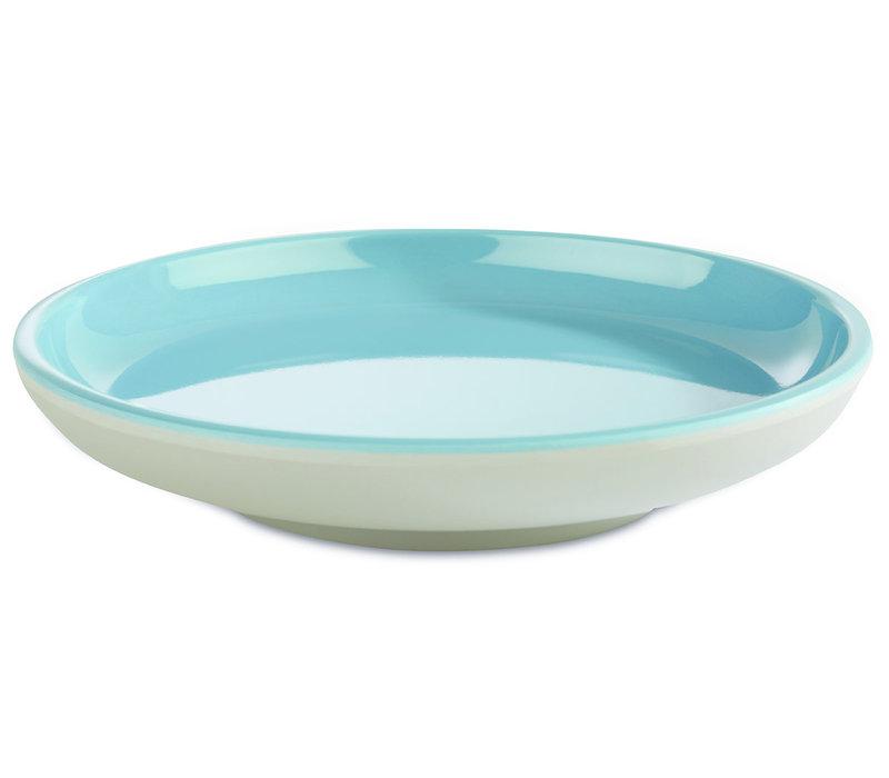 """Bord """"Asia Plus""""   Melamine   Ø 11 cm x H 2 cm   Grijs/Blauw"""
