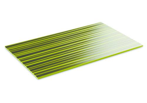"APS-Germany Plateau ""Asia Plus""   Melamine   1/1 GN   53 cm x 32.5 cm x H 1.5 cm   Groen met bamboestructuur"