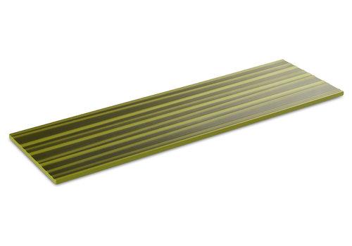 "APS-Germany Plateau ""Asia Plus""   Melamine   2/4GN   53 cm x 16.2 cm x H 1.5 cm   Groen met bamboestructuur"