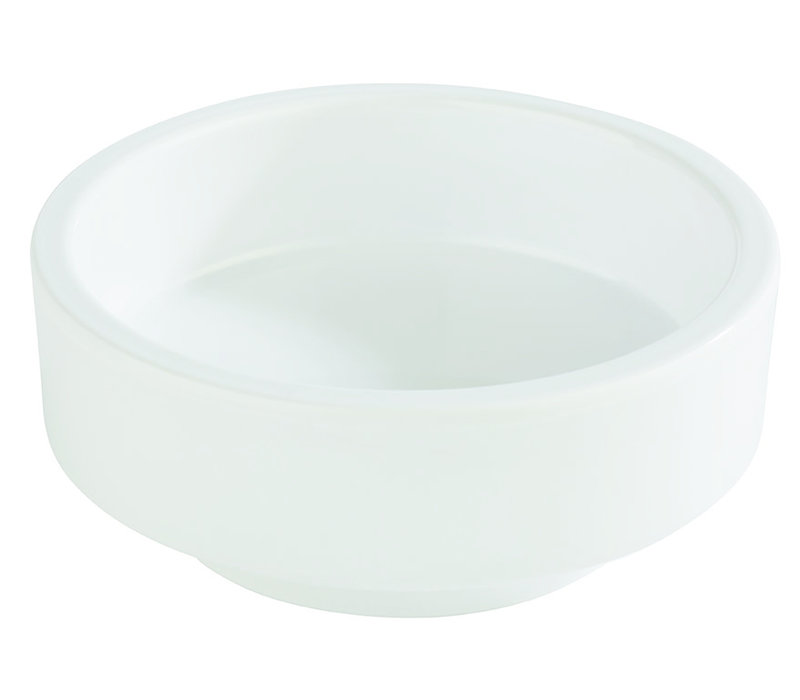"Bento Box schaal ""Asia Plus"" | Melamine | Ø 7.5 cm x H 3 cm | 0.04 liter | Wit"