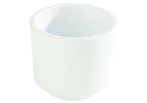 "APS-Germany Bento Box schaal ""Asia Plus""   Melamine   Ø 7.5 cm x H 6.5 cm   0.13 liter   Wit"