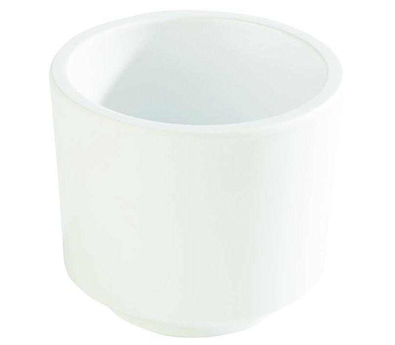 "Bento Box schaal ""Asia Plus"" | Melamine | Ø 7.5 cm x H 6.5 cm | 0.13 liter | Wit"