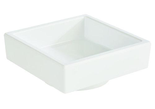 "APS-Germany Bento Box schaal ""Asia Plus""   Melamine   7.5 cm x 7.5  cm x H 3 cm   0.05 liter   Wit"