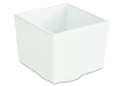 "APS-Germany Bento Box schaal ""Asia Plus""   Melamine   7.5 cm x 7.5 cm x H 6.5 cm   0.16 liter   Wit"