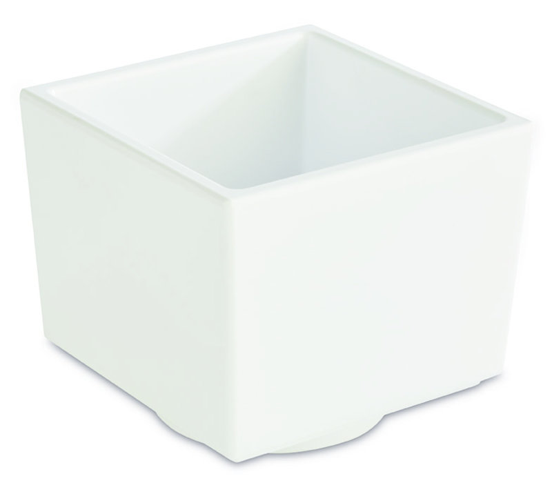 "Bento Box schaal ""Asia Plus"" | Melamine | 7.5 cm x 7.5 cm x H 6.5 cm | 0.16 liter | Wit"