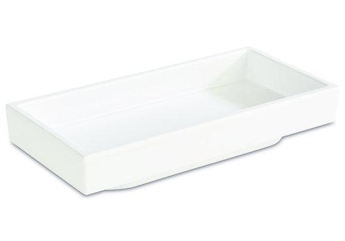 "APS-Germany Bento Box schaal ""Asia Plus""   Melamine   15.5 cm x 7.5 cm x H 3 cm   0.10 liter   Wit"
