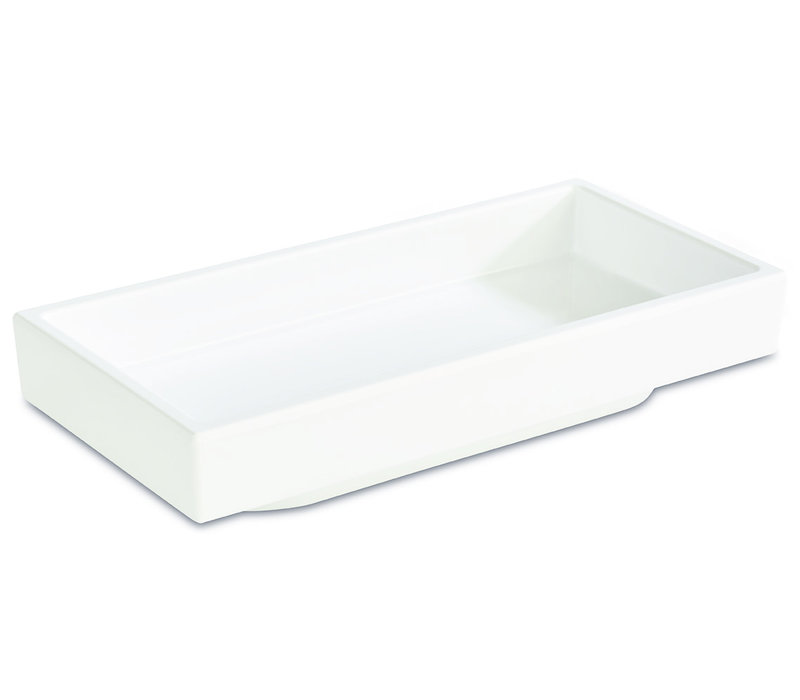 "Bento Box schaal ""Asia Plus"" | Melamine | 15.5 cm x 7.5 cm x H 3 cm | 0.10 liter | Wit"