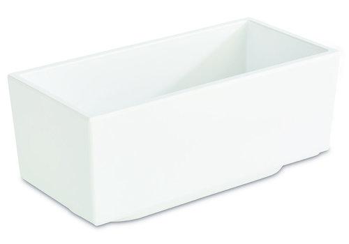 "APS-Germany Bento Box schaal ""Asia Plus""   Melamine   15.5 cm x 7.5 cm x H 6.5 cm   0.40 liter   Wit"