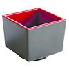 "APS-Germany Bento Box schaal ""Asia Plus"" | Melamine | 7.5 cm x 7.5 cm x H 6.5 cm | 0.16 liter | Zwart/Rood"