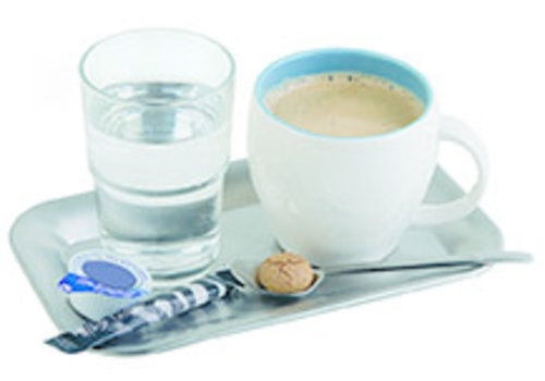 "APS-Germany Koffieserveerblad ""Kaffeehaus""   RVS   21.5 cm x 13 cm x H 1.5 cm   Mat"