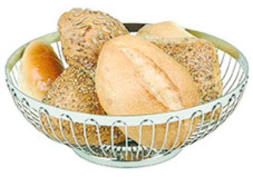 APS-Germany Brood- en/of fruitmand| RVS | Ø 17.5 cm x H 7 cm | Stapelbaar
