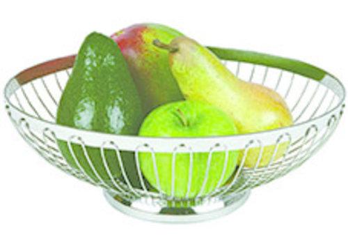 APS-Germany Brood- en/of fruitmand | RVS | Ø 20.5 cm x H 8.5 cm | Stapelbaar
