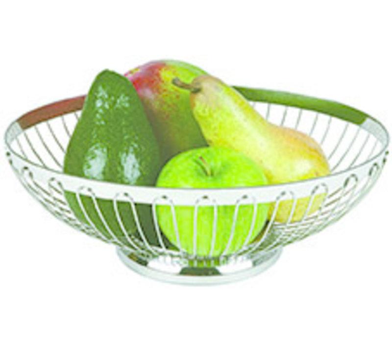 Brood- en/of fruitmand | RVS | Ø 20.5 cm x H 8.5 cm | Stapelbaar