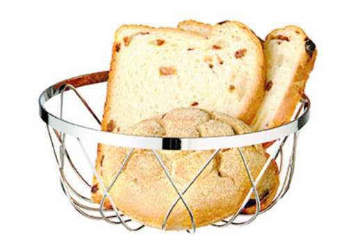 APS-Germany Brood- en/of fruitmand | Ø 18 cm x H 7.5 cm | Verchroomd