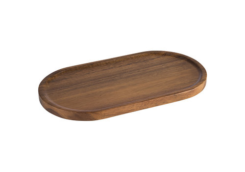 APS-Germany Plank passend bij 30336 | Acaciahout | 28.5 cm x 15.5 cm x H 3.5 cm | Ovaal