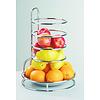"""APS-Germany Etagère """"Fruits Buffet""""   Metaal RVS   Ø 27.5 cm x H 32 cm   RVS Schaal verwijderbaar   Verchroomd"""