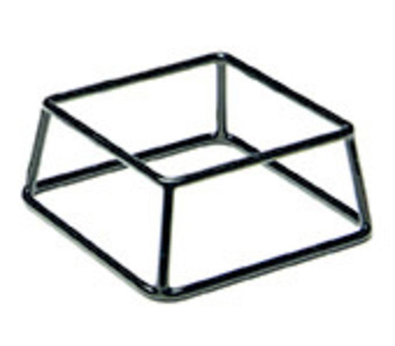 "Buffetstandaard ""Multi"" | Metaal PVC | 18 cm x 18 cm x H 8 cm | Zwart"