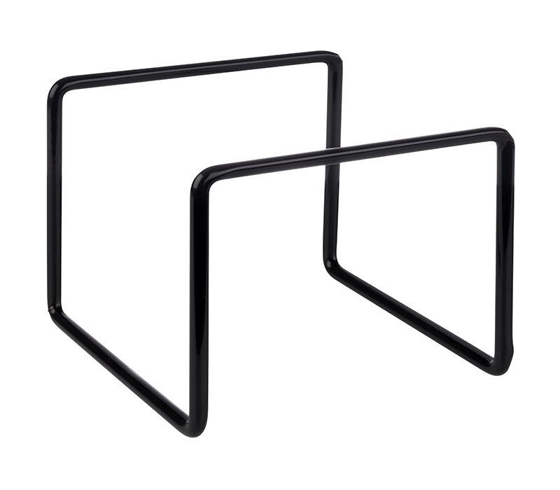 Buffet standaard | Metaal | 11.5 cm x 11.5 cm x H 9 cm | Verschillende manieren te gebruiken | Zwart