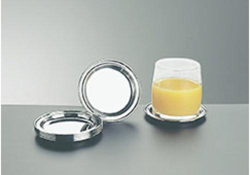 APS-Germany Onderzetters t.b.v. glazen | RVS | Ø 10 cm | set 6 stuks