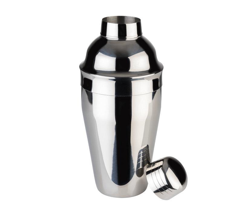 Cocktailshaker | RVS | Ø 8.5 cm x H 20 cm | 0.50 liter | Hoogglans gepolijst