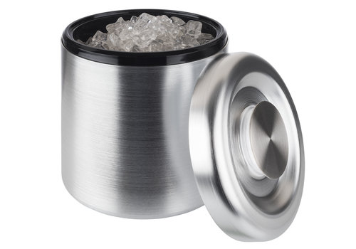 "APS-Germany IJsbox ""Maxi""| PS Aluminium | Ø 18.5 cm x H 20 cm | 3 liter | 150 ijsblokjes | Geanodiseerd"