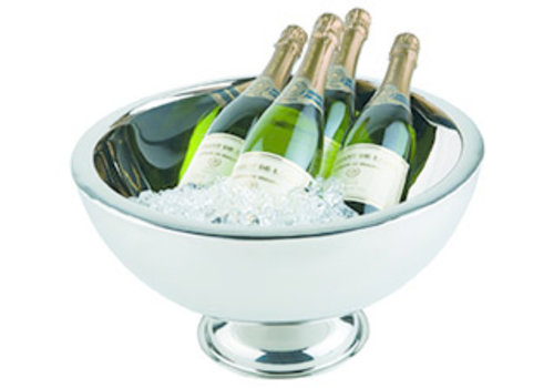 APS-Germany Champagnekoeler | RVS | Ø 44/25 cm x H 24 cm | 10.5 liter | Dubbelwandig | Hoogglans gepolijst