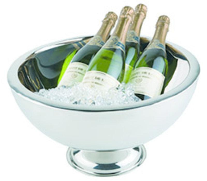 Champagnekoeler   RVS   Ø 44/25 cm x H 24 cm   10.5 liter   Dubbelwandig   Hoogglans gepolijst