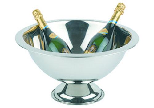 APS-Germany Champagnekoeler | RVS | Ø 45/21 cm x H 23 cm | 12 liter | Hoogglans geplolijst/Rand mat