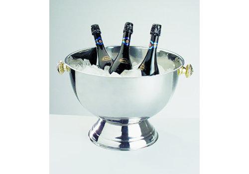 APS-Germany Champagnekoeler | RVS | Ø 42/27 cm x H 28 cm | 20 liter | Buiten hoogglans gepolijst/Binnen mat