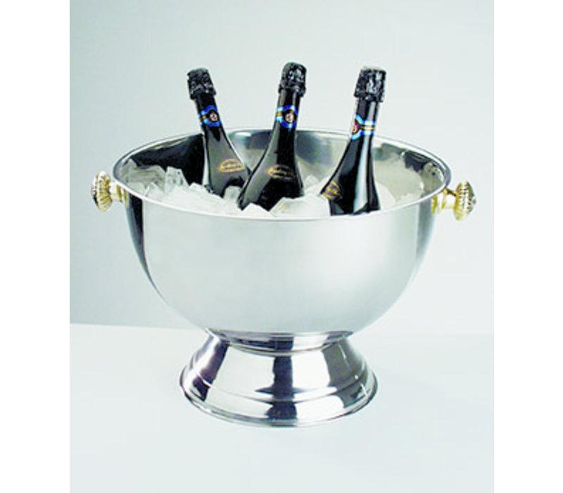 Champagnekoeler   RVS   Ø 42/27 cm x H 28 cm   20 liter   Buiten hoogglans gepolijst/Binnen mat