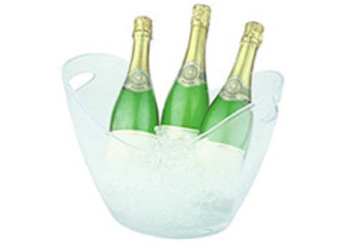 APS-Germany Wijn- en/of champagnekoeler | PS | 35 cm x 27 cm x H 25.5 cm | 6 liter | Transparant mat