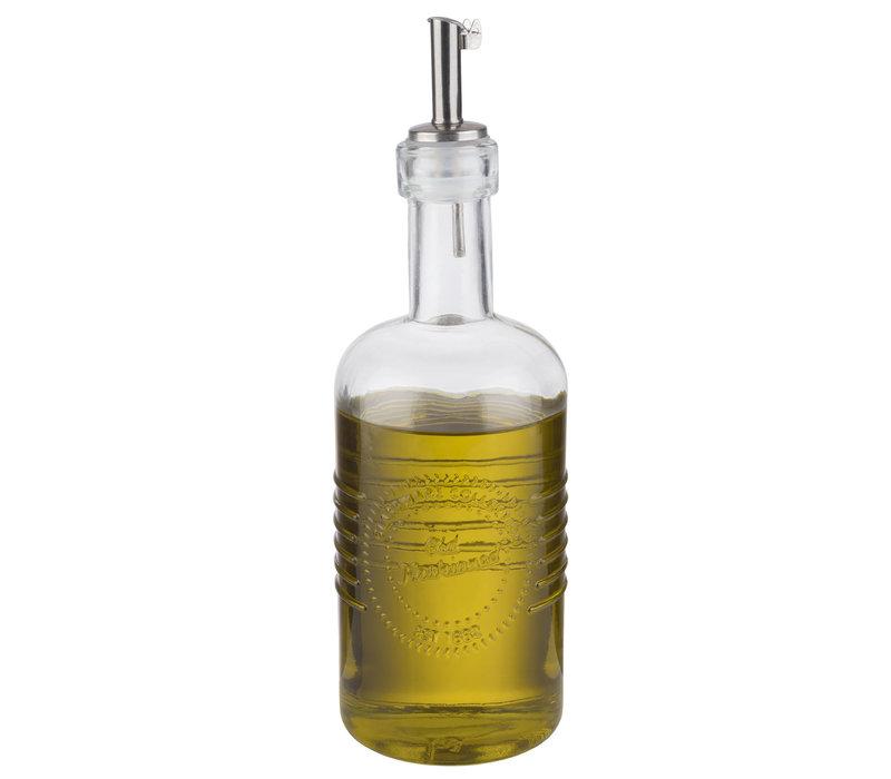 "Azijn- of oliefles ""Old Fashioned"" | Glas RVS | Ø 7 cm x H 22 cm | 0.35 liter"