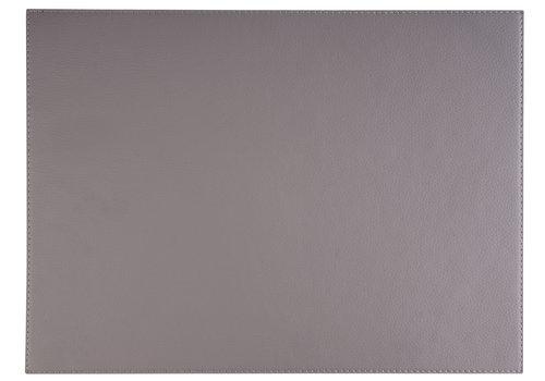 """APS-Germany Placemat """"Kunstleer""""   Kunstleer   45 cm x 32,5 cm   verpakt per 6 stuks   Grijs"""