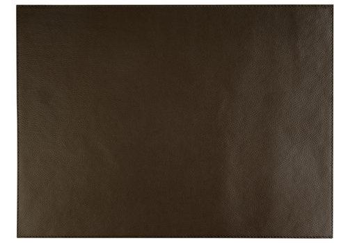 """APS-Germany Placemat """"Kunstleer""""   Kunstleer   45 cm x 32,5 cm   verpakt per 6 stuks   Bruin"""