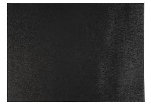 """APS-Germany Placemat """"Kunstleer""""   Kunstleer   45 cm x 32,5 cm   verpakt per 6 stuks   Zwart"""